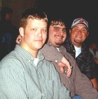 Johnny with our friends Brian Speers and Mike Pitts, circa 1999