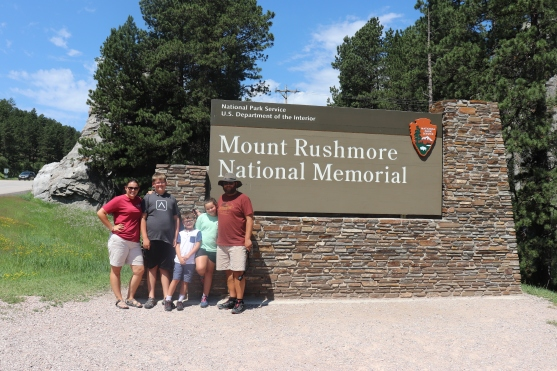 JKLMN visiting Mount Rushmore